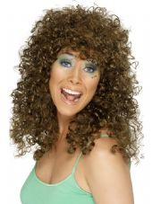 1980's Boogiebabe Wig In Brown